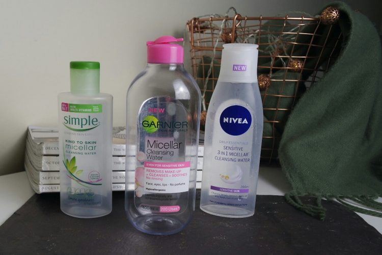 Drugstore Micellar Waters Garnier, Nivea, and Simple