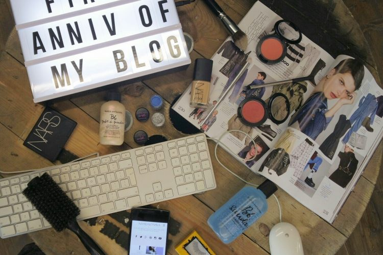Flatlay of beauty,hair and fashion I like to blog about