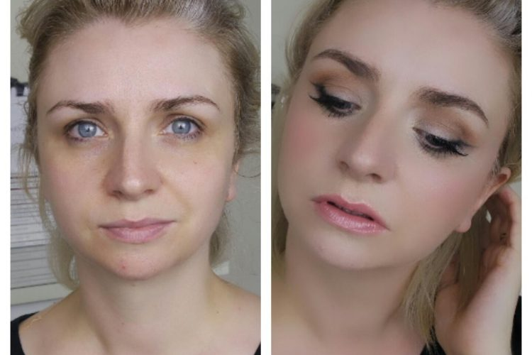 Before and after Easy Soft Cat Eye With Glowy Skin