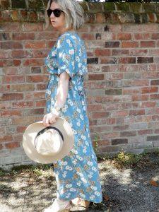 Izabel London Floral Print Wrap Over Maxi dress.