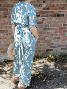 Izabel London Floral Print Wrap Over Maxi dress.