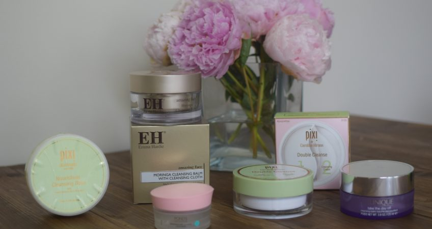 Balm Cleansers Emma Hardie,Clinque Take the day off, Pixi double cleanse,Ponds Cold Cream.